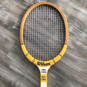 VINTAGE Wilson Chris Evert Wood Tennis Racquet 🎾